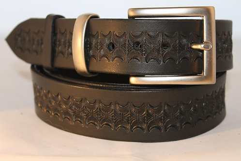 Black Tooled Belt, for jeans - BT35-113