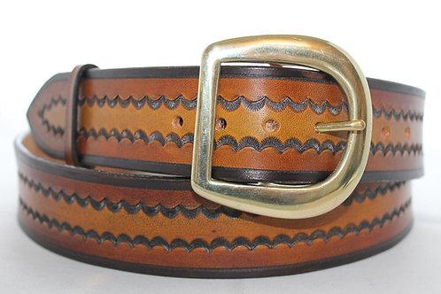 """Light tan leather belt, Handmade belt, 1¾"""" wide, Made in Ireland, XT17-025"""