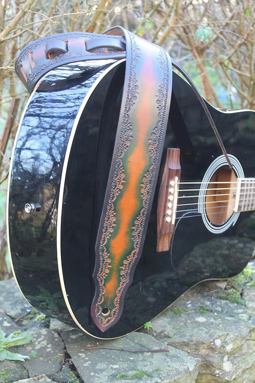 Guitar strap/ Unique design/ Handmade guitar strap/ Adjustable guitar strap