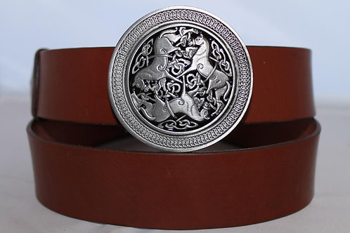 Belt buckle Celtic Horses | Pewter platted buckle | T1004