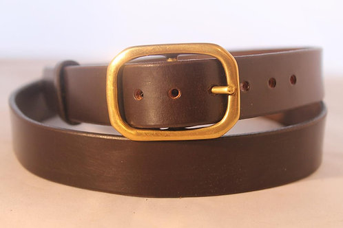 "Plain belts 1¼"" with Solid Brass Buckle"