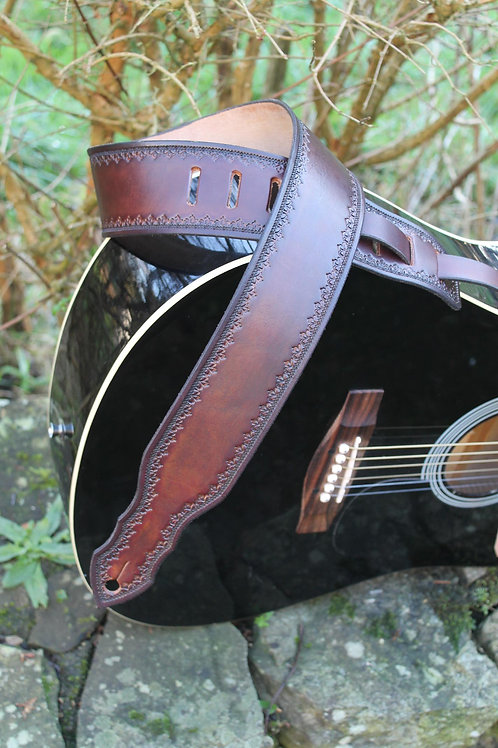Guitar strap/ Classic design/ Handmade guitar strap/ Adjustable guitar strap