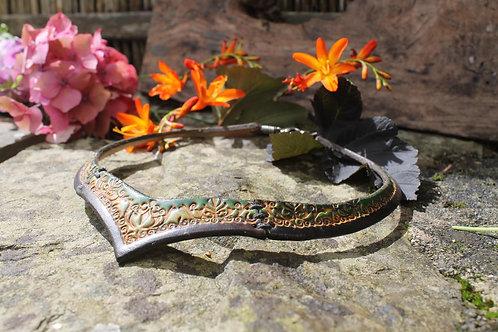 Ivy Green LeatherTorc - Unique Floral design