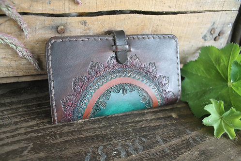 Mandala Purse - Handmade wallet decorated with unique design