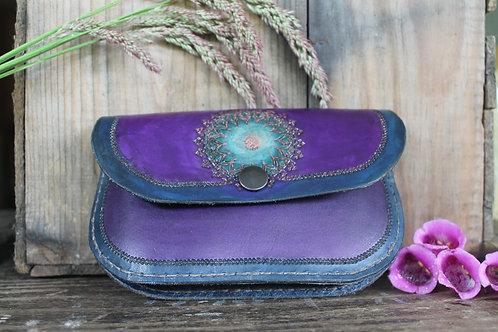 Purple and blue Ladie's Purse / Handtooled