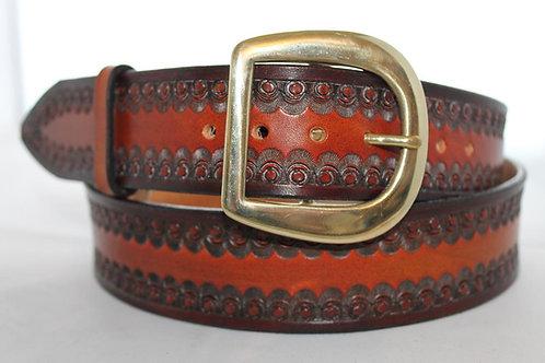 """Dark Red leather belt, Handmade belt, 1¾"""" wide, Made in Ireland, XT17-023"""