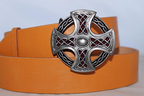 Celtic cross Belt buckle | Pewter platted buckle | T317BL
