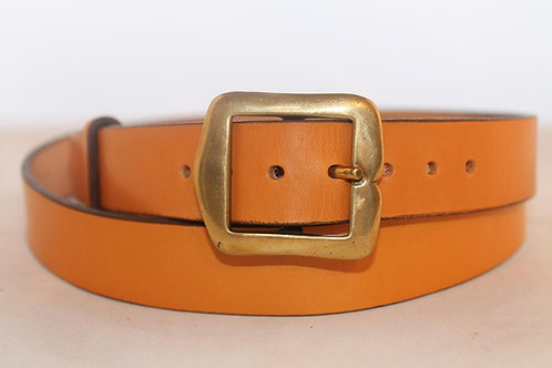 """Plain belts 1¼"""" with Square Solid Brass Buckle"""