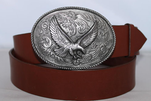 Belt buckle Eagle Plate | Pewter platted buckle | DD176