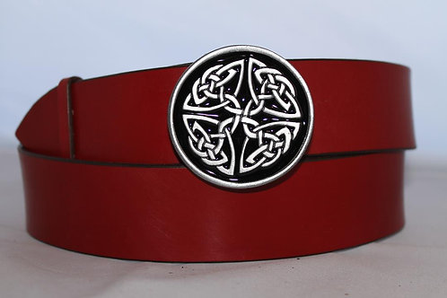 Belt buckle Black Small Celtic knot  | Pewter platted buckle | T317BL