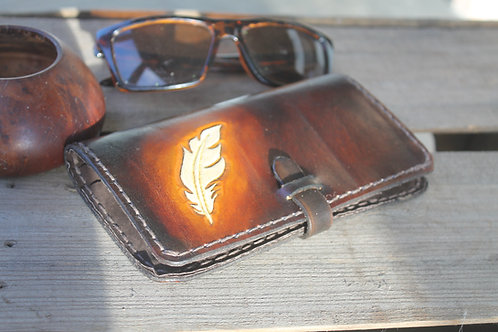 Feather Wallet / Handcarved