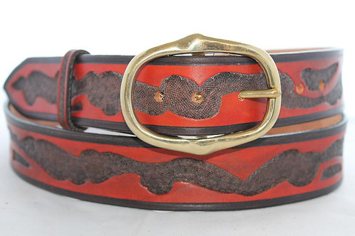 "Beara Belt Hand Tooled, 1½"" wide, BB036"