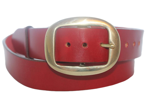 "1½"" Plain Belt with solid brass buckle"