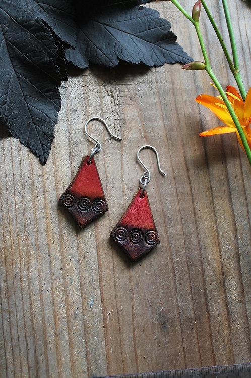 Diamond Red Earrings