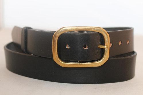 "Plain belt 1¼"" with Rectangular Solid Brass Buckle"