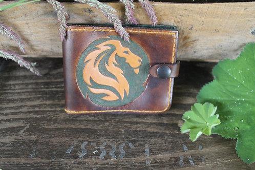 Lion Wallet Handcarved