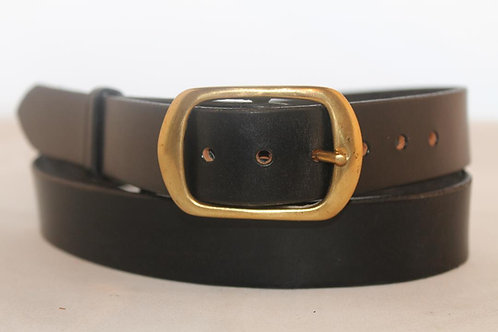 "Plain belts 1¼"" with Oval Solid Brass Buckle"