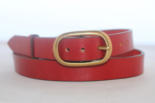 """Plain belts 1"""" with Oval Solid Brass Buckle"""