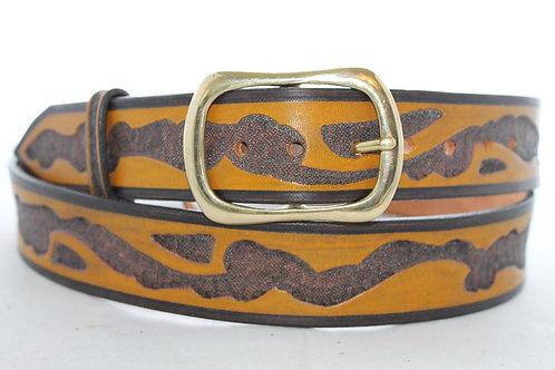 """Beara Belt Hand Tooled, 1½"""" wide, BB031"""