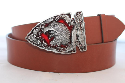 Belt buckle Eagle Head | Pewter platted buckle | D2