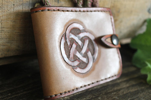 Handmade Leather Wallet Celtic/ Men's wallet handmade