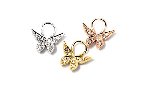 The Butterfly Huggie Charm