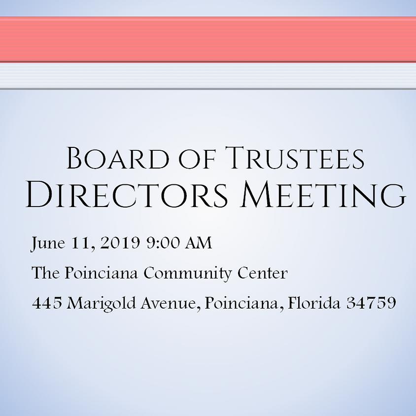 June Board of Directors Meeting