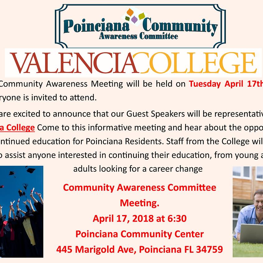 Community Awareness Committee Meeting