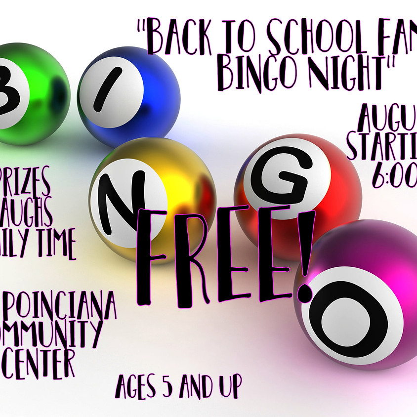 Back To School Family Bingo Night
