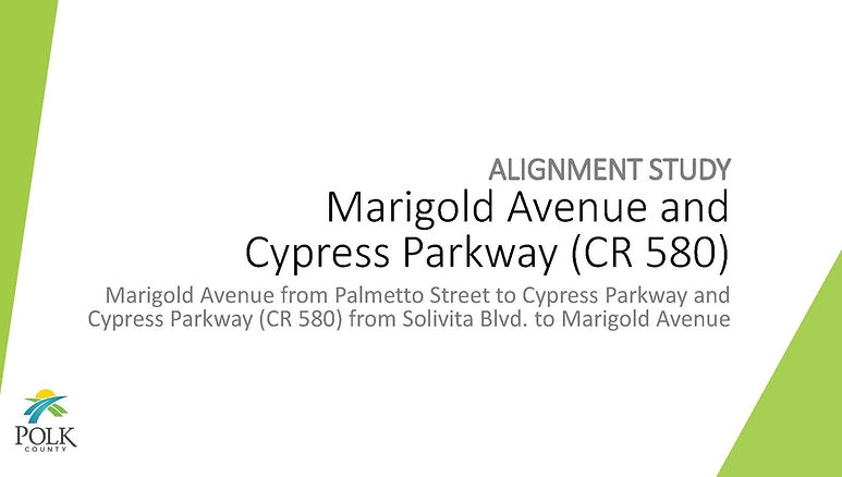 Pages from Marigold Avenue and CR580 (Cy