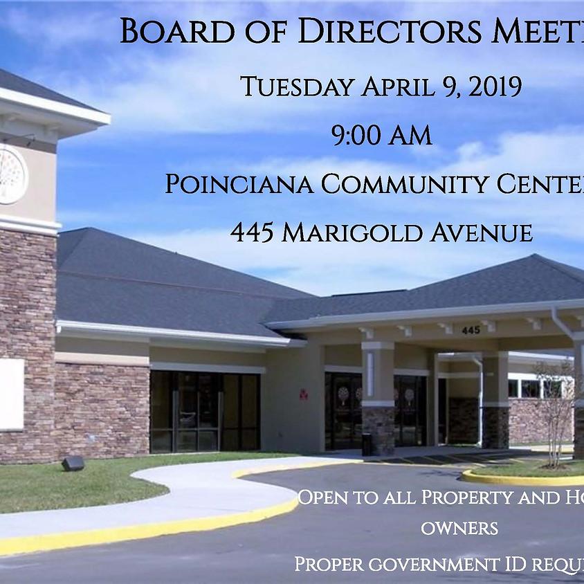 April 2019  Board of Directors Meeting