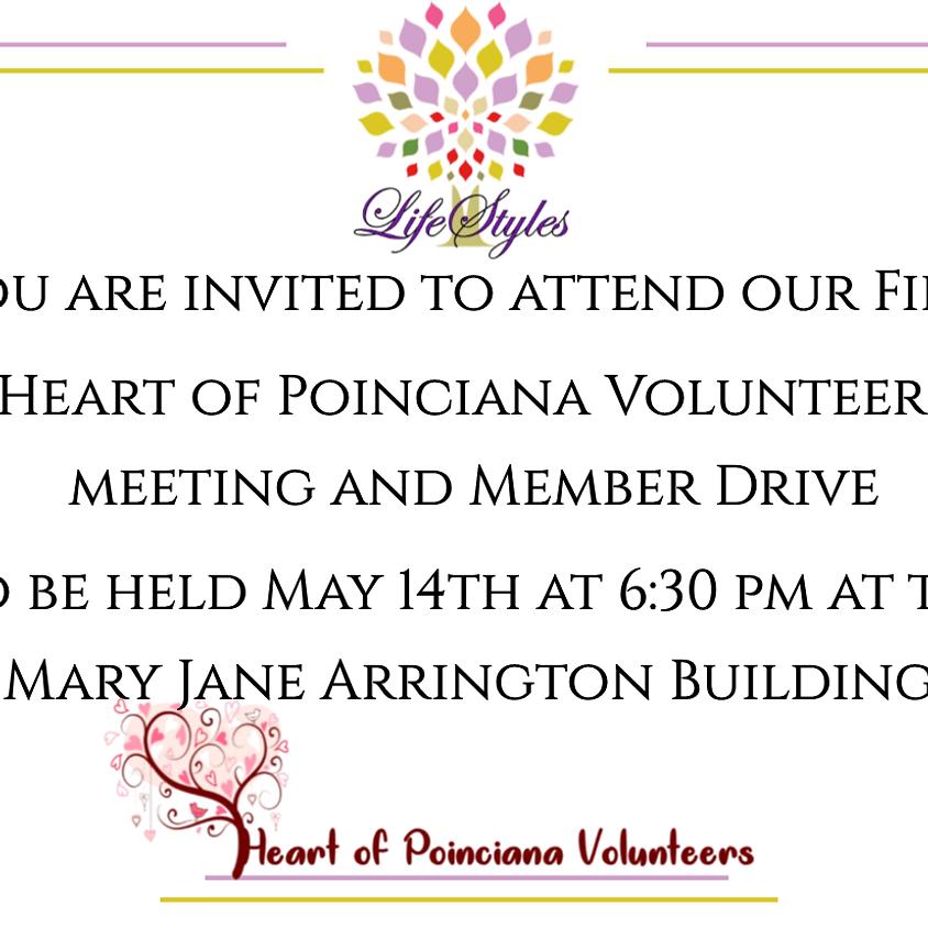 Heart of Poinciana Volunteers Meeting and Member Drive