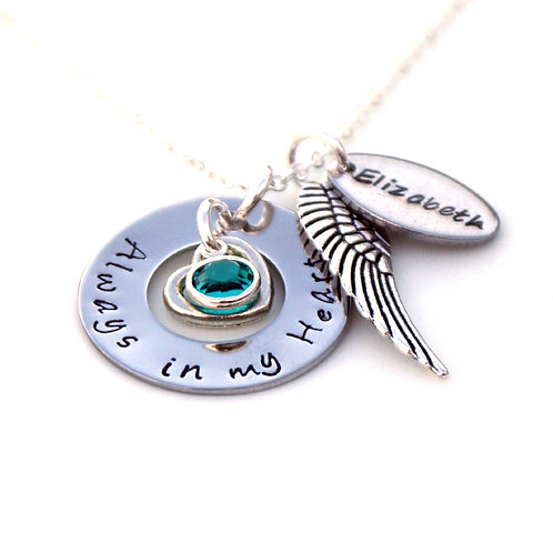 Personalised Memorial Necklace with Name