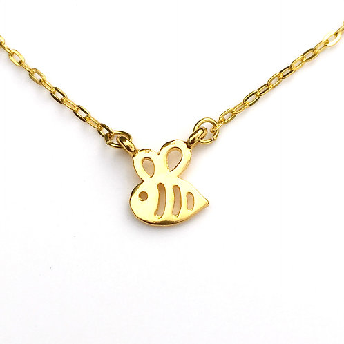 Golden Tiny Bee Necklace