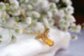 Handmade Gold Bee Necklace.jpg