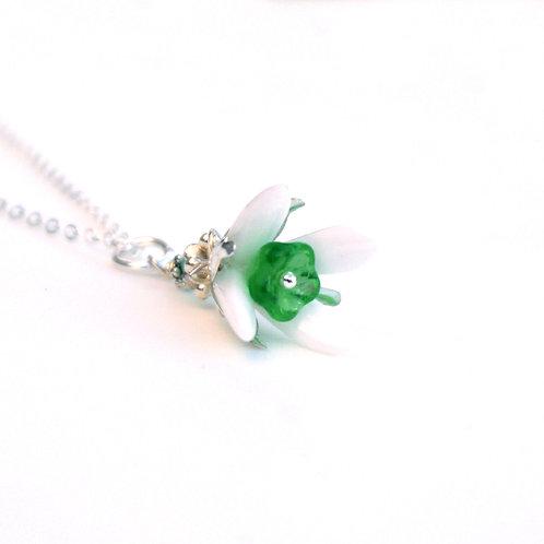 Handmade Bead Snowdrop Necklace