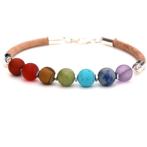 7 Chakra multicoloured gemstone bracelet