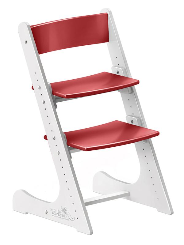 бело-красный стул конек горбунок