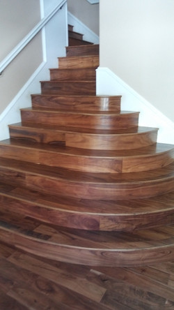 Tompkins Flooring Hardwood Stairs