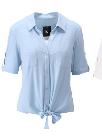 Topjes in wit, lichtblauw, jeansblauw of zwart