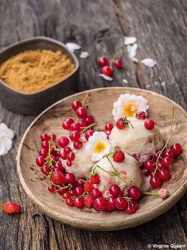 Cräme glacÇe vanille-fraise BD ∏ Virgini