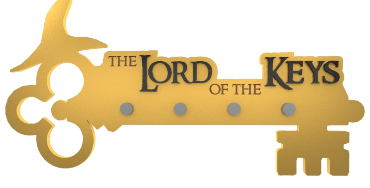 Porta Chaves Lord Of The Keys - 19x30cm