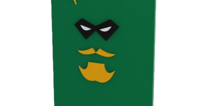 Quadro Decorativo Arqueiro Verde - 40x27cm