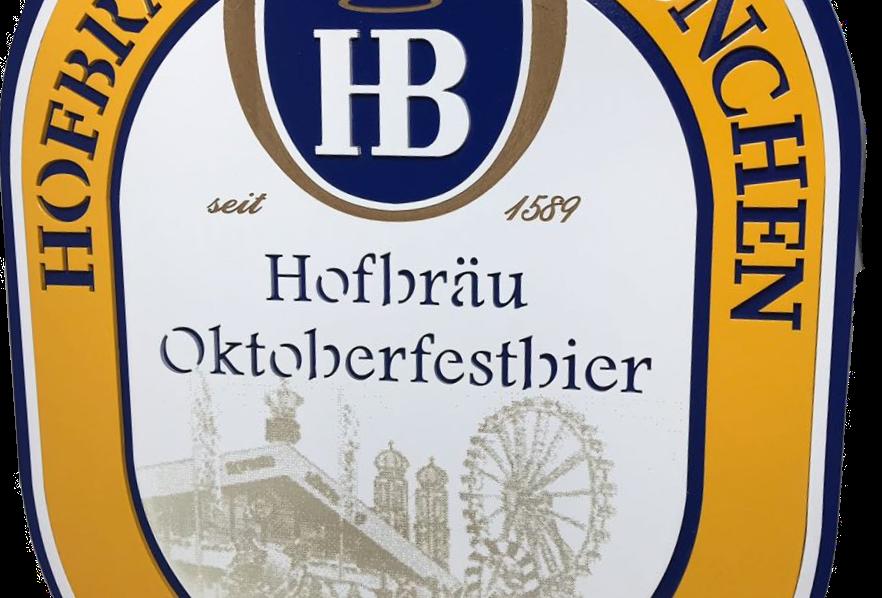 Quadro de Bar Laqueado - Cerveja Hofbrau Munchen - 40x40cm