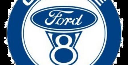 Quadro de Bar Laqueado - Motor Ford Genuine Parts - 40x40cm
