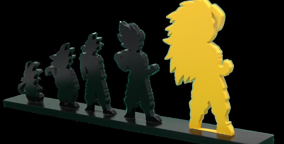 Adorno Evolução Dragon Ball Goku 15,5x40 cm