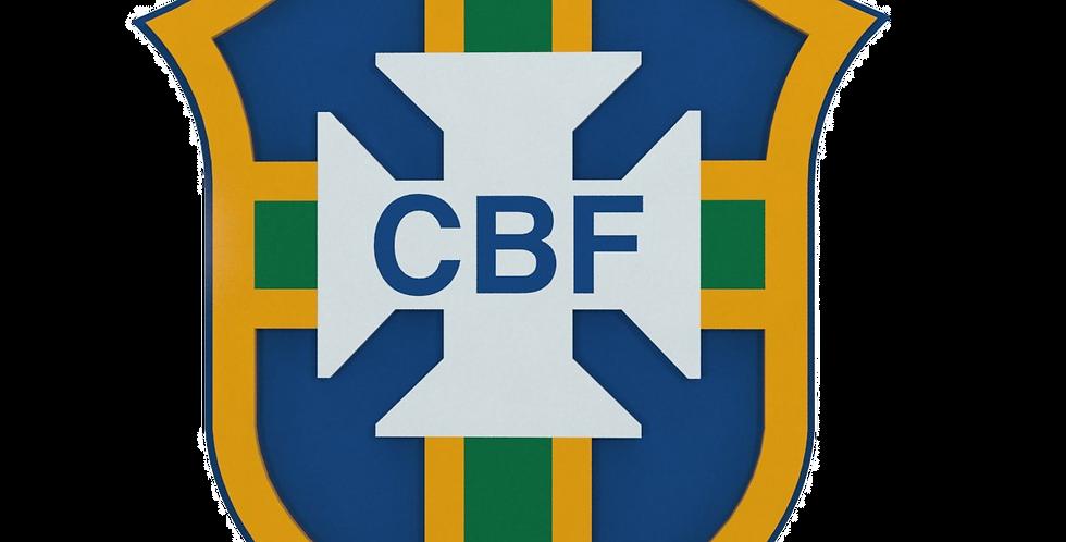 Quadro de Bar Laqueado - Time Brasil CBF- 40x40cm