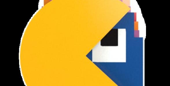 Kit 6 Porta Copo Pac Man - 11x10cm