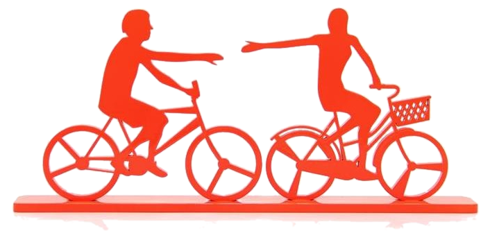 Casal Bicicleta - 14,9x33,8cm