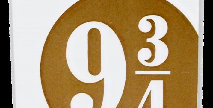 Quadro Harry Potter Estação 9 3/4 - 20x20cm